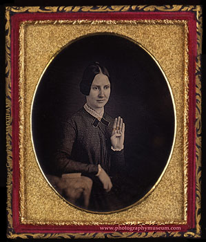 American portrait daguerreotype exhibited in the home of Daguerre