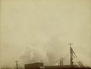 very early modernist photograph industrial rooftop scene Boston 1891 or earlier