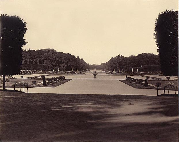 Achille Quinet albumen print of the Park at Fontainebleau